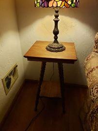 Antique, small, oak table.