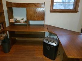 Solid oak, home office desk.