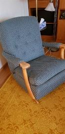 Vintage, 1950s, re-covered, very comfortable rocking chair.