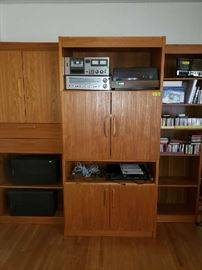 Danish Modern bookshelves/entertainment center.