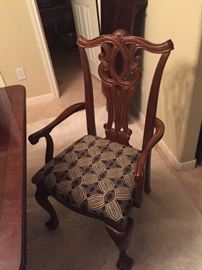 One of the arm chairs for the dining room table.