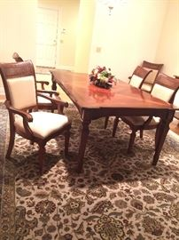 """Dining room table and six chairs.   74"""" x 45"""""""