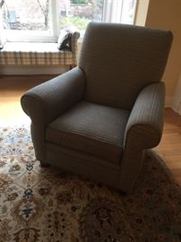 """One of a pair of upholstered chairs.   34"""" wide"""