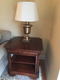 """Square end table with shelf.   30"""" Square 28"""" Tall"""