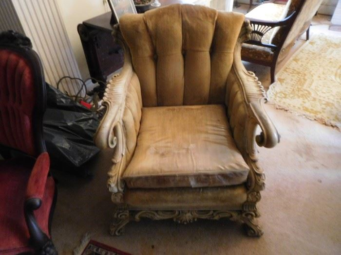 neat  wood  chair-needs  tlc