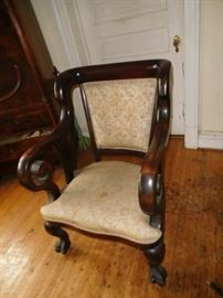 one  of  two  matching  vintage  chairs