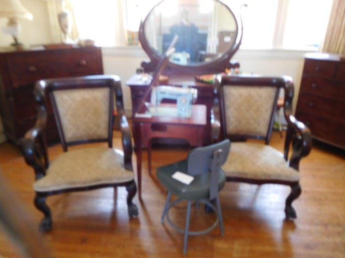 brother  sewing  machine  ,dresser  with  mirror
