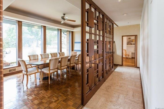 4 mid century sliding room divider wood panels.  Each panel is 9' x 5'.  Exceptional design!!!!