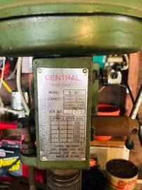 Central Machinery Drill Press S-987