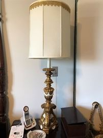 Vintage New Orleans French style tall lamp. Late 50's