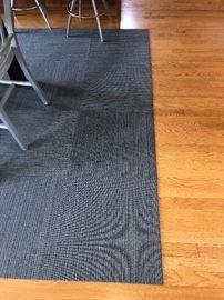 """Flor carpet squares 11'6"""" x 6'6"""" each sq. is 19.5"""" terrific flexible carpet system asking $200"""