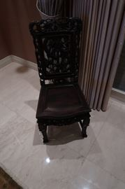 Carved Chinese chairs