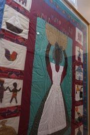 Amazing oversized framed quilt