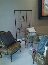Imitation Lalique glass table