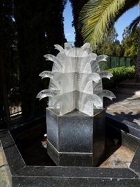 Lalique Water Fall.  One of three in the world.  Original cost:  $300,000.00.