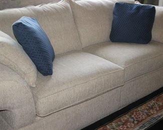 Matching Bassett sofas.