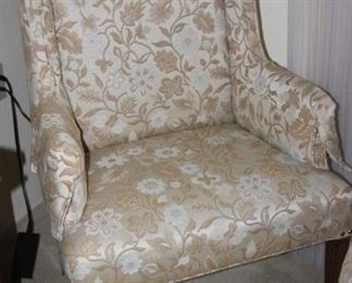 Two matching armchairs.