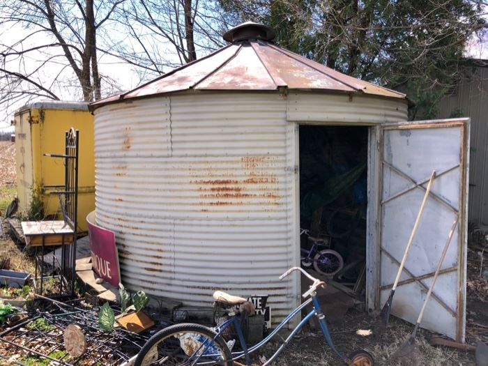 round galvanized shed for sale : )