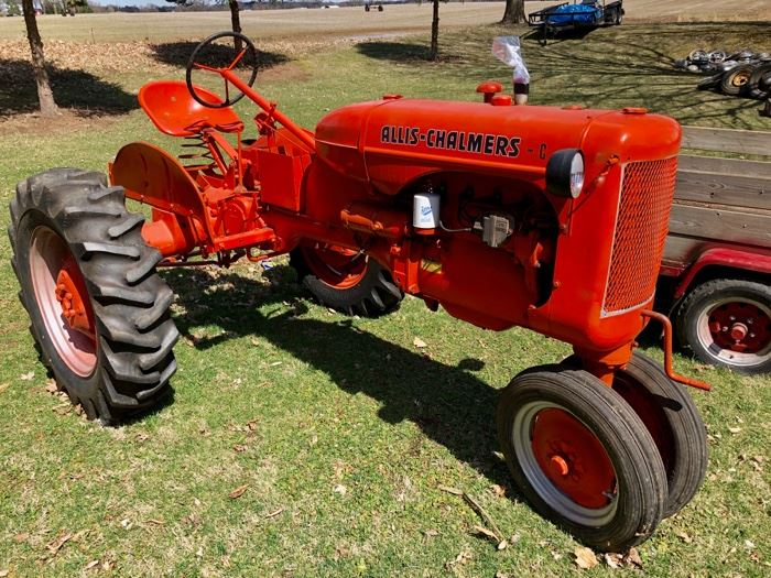 Mid-1940s Allis Chalmers C tractor