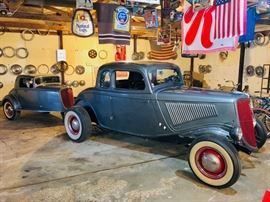 1934 Ford Coupe with matching trailer!