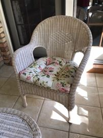 wicker side chair-- there are 2