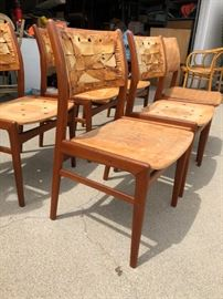 6 DUX CHAIRS MADE IN SWEDEN