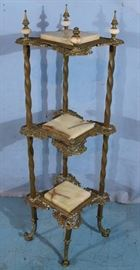 332a  Brass and onyx etagere, 46 in. T, 14 in. W.
