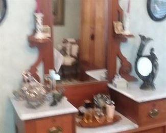 Victorian Marble-Top Dresser