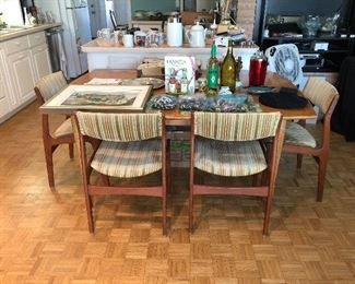 MCM dining room set with 4 chairs