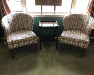Two chair and small table