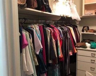 Ladies clothes, purses, bride dolls