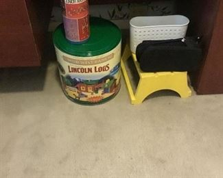 Tin can and stepstool