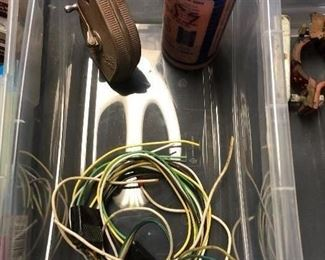 Chalk line and chalk, trailer wiring harness kit