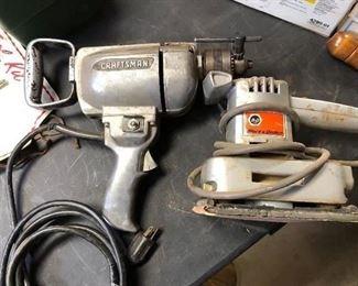 "Craftsman 1/2"" drill, B&D sander"
