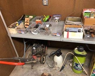 Craftsman edger, misc. vintage sprinklers, plumbing parts, elec parts