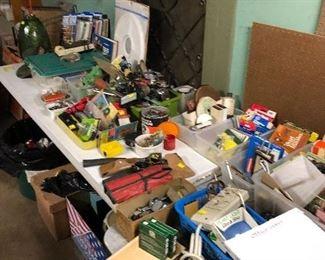 Assorted tools, automotive light bulbs and fuses, flashlights
