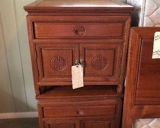 Teak wood nightstands
