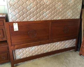 Teak wood headboard and frame