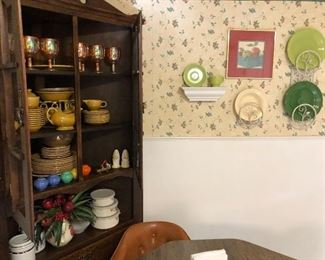 Fiestaware dishes galore!!  Call Libby for list of pieces and pricing....