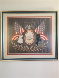 Modernish red, white and blue professional framing