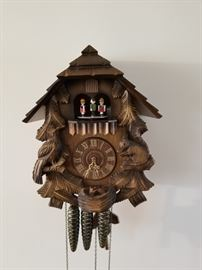 Vintage musical and mechanical German Black Forest Cuckoo clock