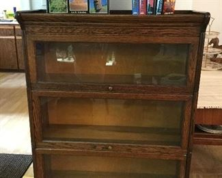 "BARRISTER BOOKCASE REGISTERED AND BUILT IN GRAND RAPIDS  46"" TALL  34"" WIDE"
