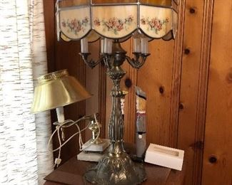 Lamps, stained glass lamps