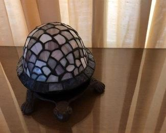 Turtle stained glass light