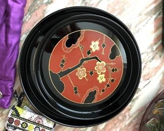 Asian/Oriental Lacquer plates