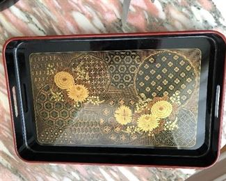 Asian/Oriental Lacquer Tray