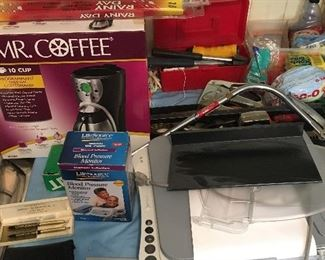 Mr. Coffee and other kitchen items