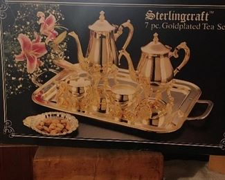 Sterling Craft Tea set 7 Piece Gold Plated