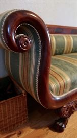 Gorgeous Detail.  Reupholstered using period material