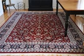 2. 100 Wool Hand Knotted Carpet in a Kashan Pattern